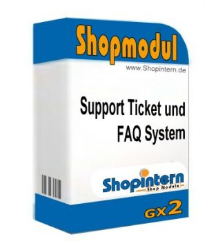 Support Ticket und FAQ System - Gambio GX2